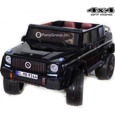 Детский электромобиль Mercedes-Benz Maybach YBG9144 4x4 (полноприводный, с резиновыми колесами и кожаным сиденьем)