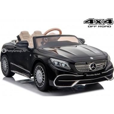 Детский электромобиль Mercedes-Benz Maybach S650 Cabriolet ZB188 (ПОЛНЫЙ ПРИВОД с резиновыми колесами и кожаным сиденьем)
