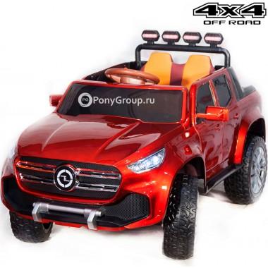 Детский электромобиль Mercedes-Benz PICKUP 4WD YBD5478 (полноприводный 4х4 с резиновыми колесами и кожаным сиденьем)