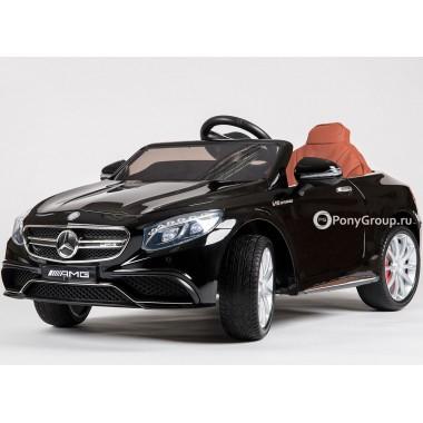 Детский электромобиль Mercedes-Benz S63 AMG HL-169 (с резиновыми колесами и кожаным сиденьем)