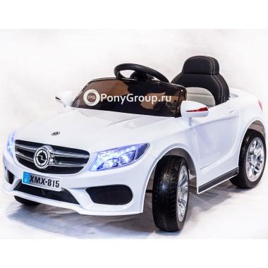 Детский электромобиль Mercedes-Benz XMX 815 (с резиновыми колесами, кожаным сиденьем)