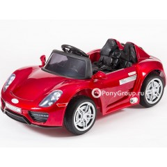 Детский электромобиль Porsche 918 Spyder M002MP HL-1038 (резиновые колеса, кожа)