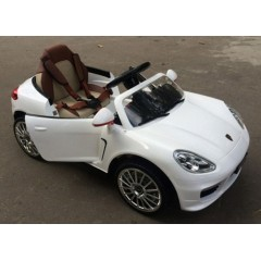 Детский электромобиль Porsche Panamera А444АА VIP (резиновые колеса, кожа)