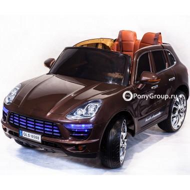 Детский электромобиль PORSCHE MACAN QLS 8588 (с резиновыми колесами, кожаным сиденьем)