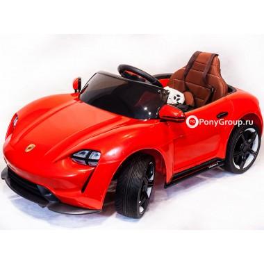 Детский электромобиль PORSCHE Sport QLS 8988 (с резиновыми колесами, кожаным сиденьем)