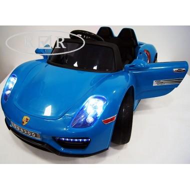 Детский электромобиль Porsche O003OO (резиновые колеса, кожа)
