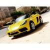 Детский электромобиль Porsche Cayman 12V YSA021 (двухместный с резиновыми колесами и кожаным сиденьем)