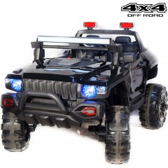 Детский электромобиль Джип QLS-618 4Х4 (ПОЛНЫЙ ПРИВОД, ДВУХМЕСТНЫЙ, кожа, резиновые колеса)