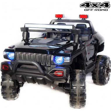 Детский электромобиль Джип QLS-618 4Х4 (двухместный, полноприводный 4WD с резиновыми колесами и кожаным сиденьем)