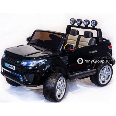 Детский электромобиль RANGE ROVER XMX 601 Happer (двухместный с резиновыми колесами и кожаным сиденьем)