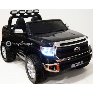 Детский электромобиль TOYOTA TUNDRA JJ2255 (двухместный, резиновые колеса, кожа)
