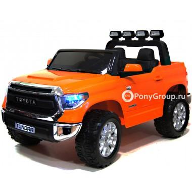 Детский электромобиль TOYOTA TUNDRA MINI JJ2266 (двухместный с резиновыми колесами и кожаным сиденьем)