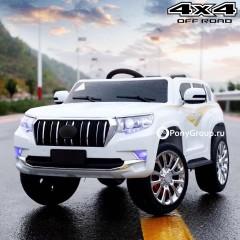 Детский электромобиль TOYOTA LAND CRUISER PRADO 4x4 YHD5637(полный привод, кожа, резиновые колеса)
