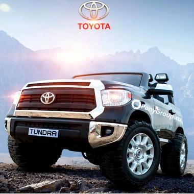 Детский электромобиль TOYOTA TUNDRA JJ2255 (двухместный с резиновыми колесами и кожаным сиденьем, 24V)