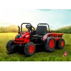 Детский электромобиль Трактор с прицепом TR 001 (резиновые колеса, кожа)