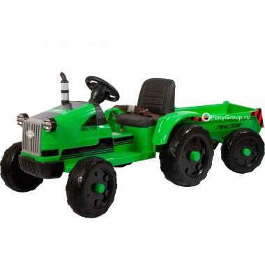 Детский электромобиль Трактор с прицепом TR 55 (кожа)