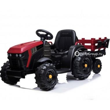 Детский электромобиль Трактор с прицепом TR 777 (резиновые колеса, кожа)