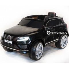 Детский электромобиль Volkswagen Touareg (резиновые колеса, кожа)