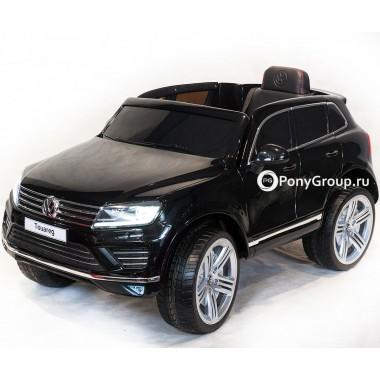 Детский электромобиль Volkswagen Touareg DK F666 (с резиновыми колесами, кожаным сиденьем)