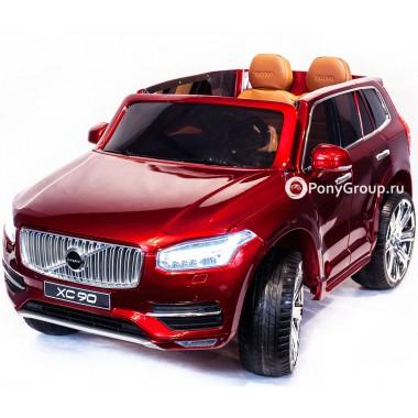 Детский электромобиль VOLVO XC90 (резиновые колеса, кожа)