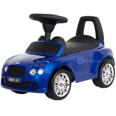 Каталка-машинка BENTLEY Continental GT Speed с музыкой (синий металлик)