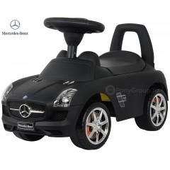 Каталка Mercedes-Benz SLS AMG черная матовая с музыкой