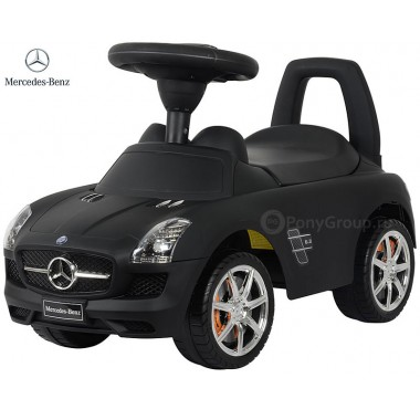 Каталка-машинка Mercedes-Benz SLS AMG с музыкой (черный матовый)