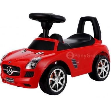 Каталка-машинка Mercedes-Benz SLS AMG с музыкой (красный)